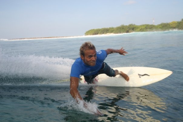 Mark, surfing Sultans, Maldives