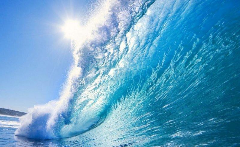 голубая волна с трубой